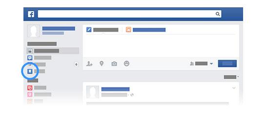 Facebook Save, gestión