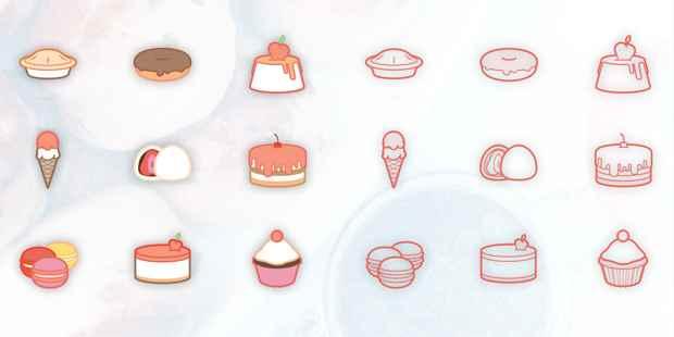 iconos gratis de dulces y postres