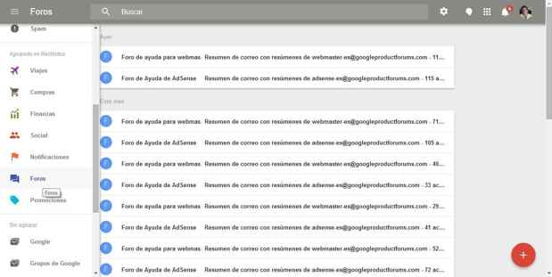 Inbox, agrupación