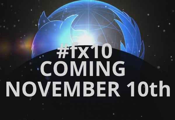 Mozilla navegador FX10