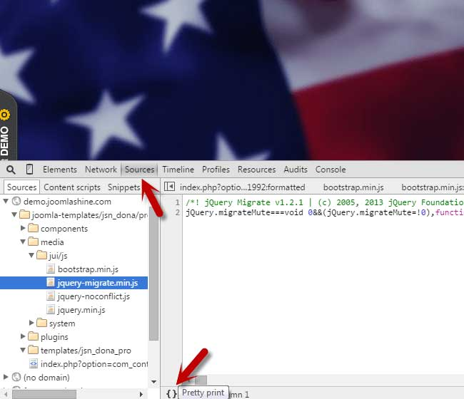 Depuración minificada de CSS/JavaScript
