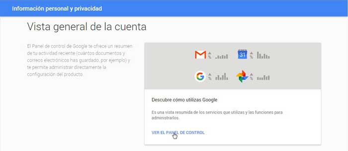 Google, información personal y privacidad