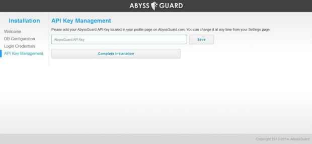 AbyssGuard instalación - API key