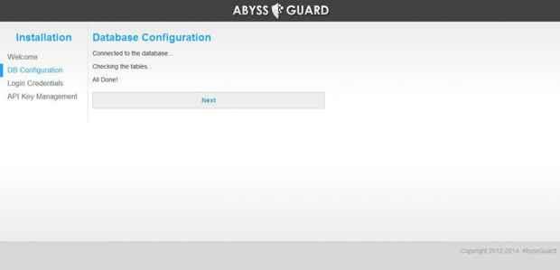 AbyssGuard instalación - base de datos
