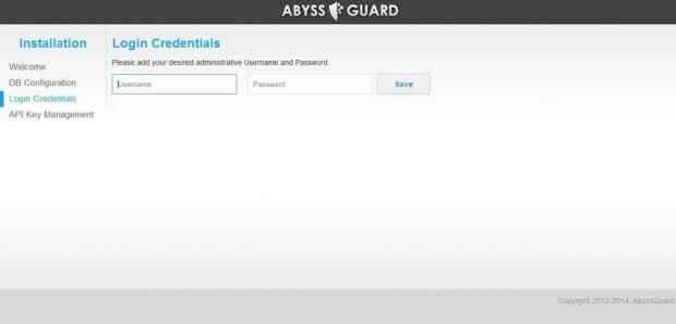 AbyssGuard instalación - credenciales