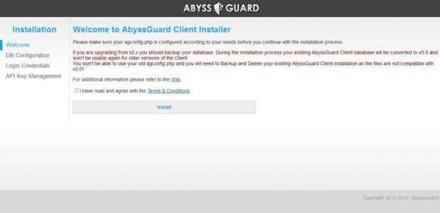 AbyssGuard instalación - welcome