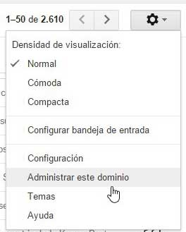 administrar dominio en Google APPS