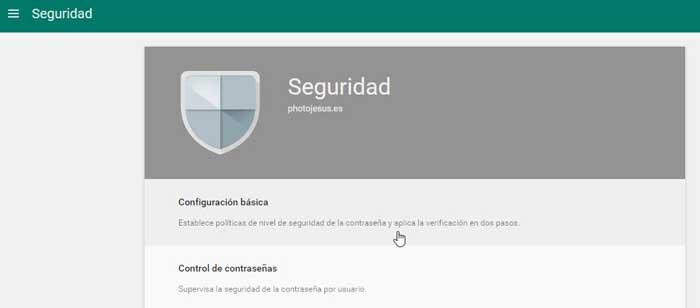 Google APPS configuración básica de seguridad