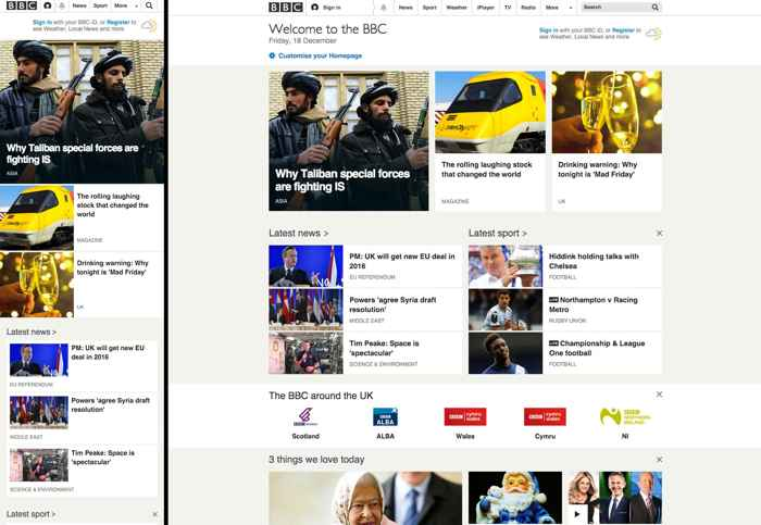 página de la BBC