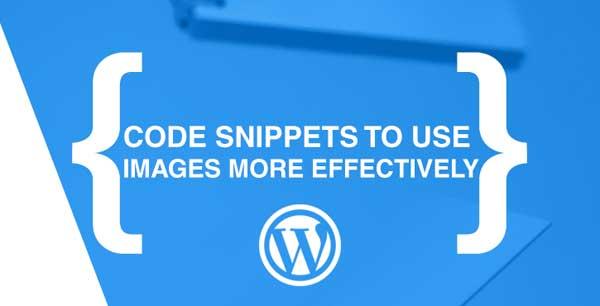 code snippet para imágenes en WordPress