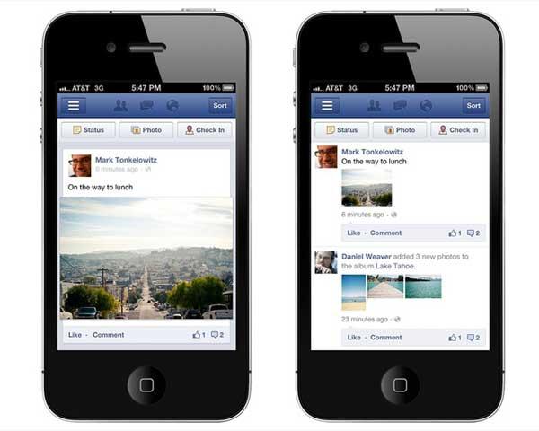 comentarios Facebook en móvil