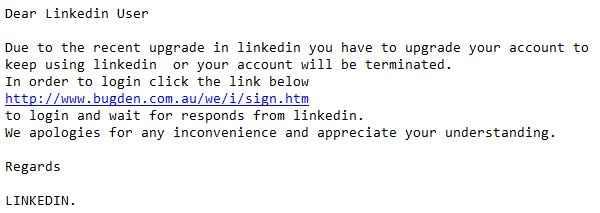 correo electrónico con pishing