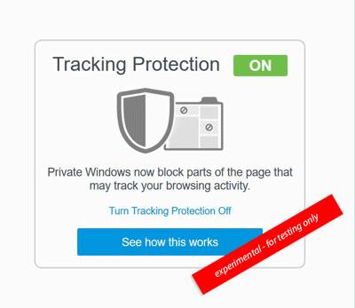 navegación privada en Firefox