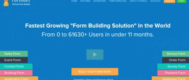 página web de FormGet