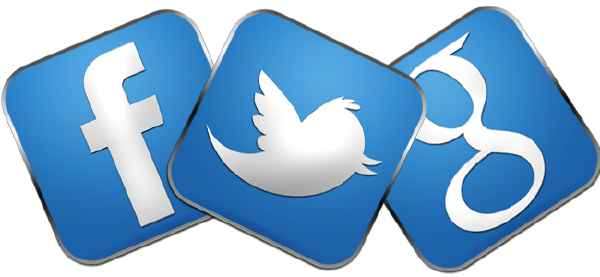 Facebook, Google+ y Twitter
