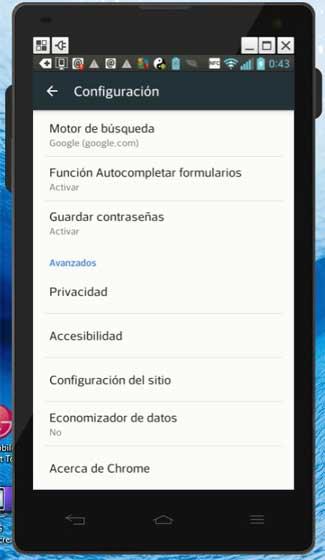 guardar contraseñas en Chrome para Android