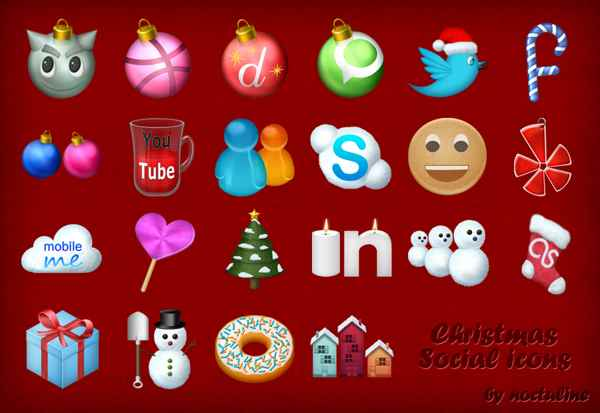 Gratis iconos navideños para redes sociales