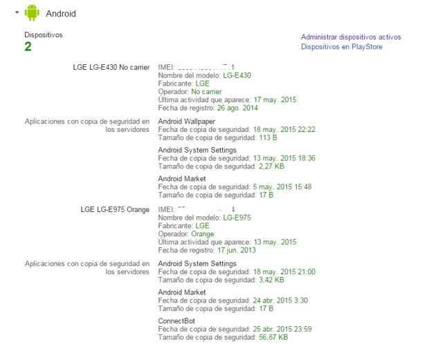 Encontrar IMEI con Google Android