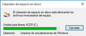 limpieza de archivos de sistema en Windows 10