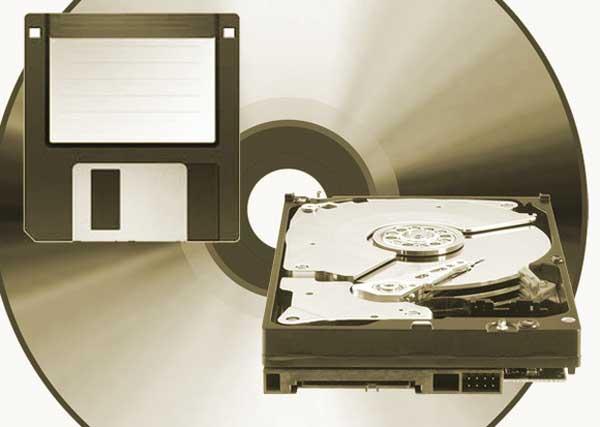 médios físicos de archivo