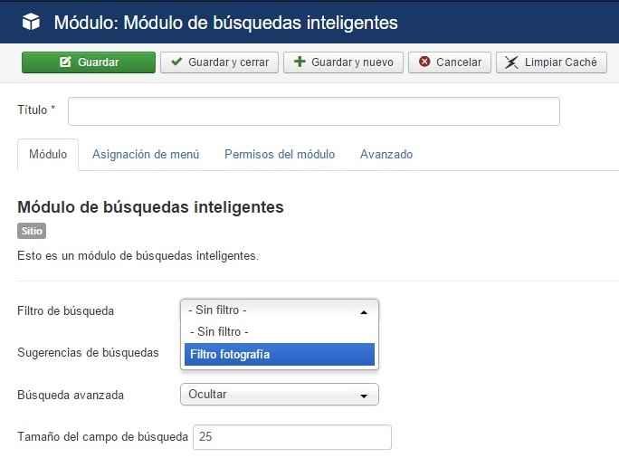 Módulo de búsquedas inteligentes
