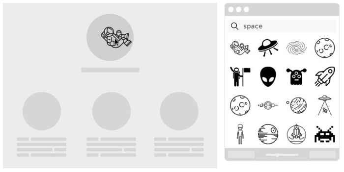 mover iconos a la aplicación