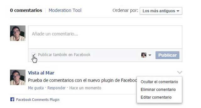 nuevo plugin de comentarios de Facebook