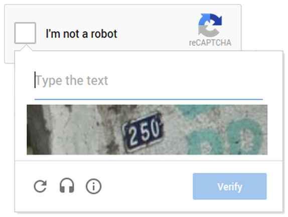 NO CAPTCHA nuevo confirmación