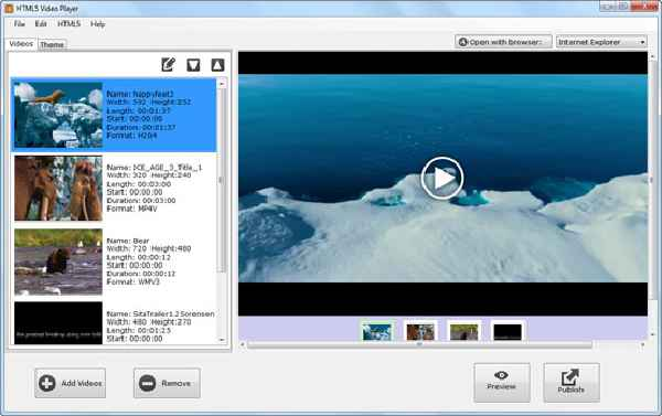 vídeo HTML5 conversor
