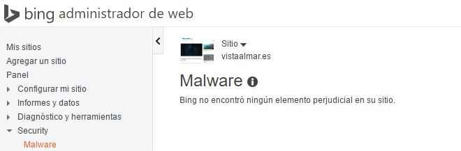 Bing, monitor de malware