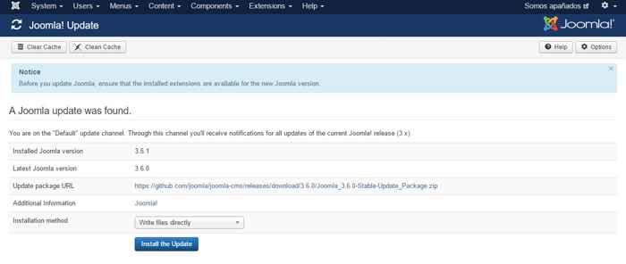 disponible Joomla 3.6.0
