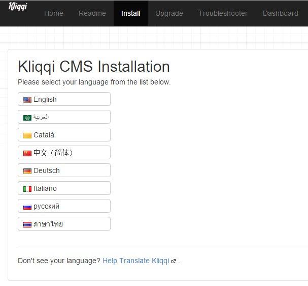 kliqqi install idioma