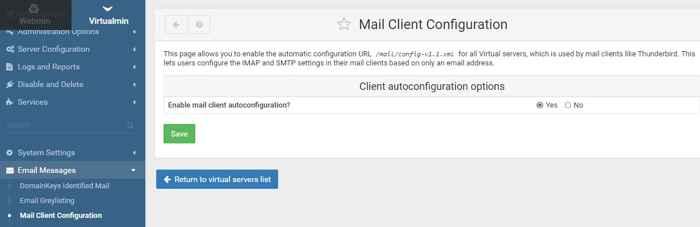Mail Client Configuration