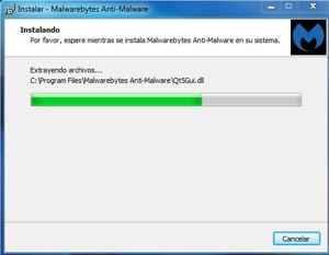 Malwarebytes instalación