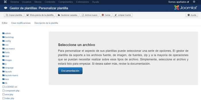 seleccione archivo