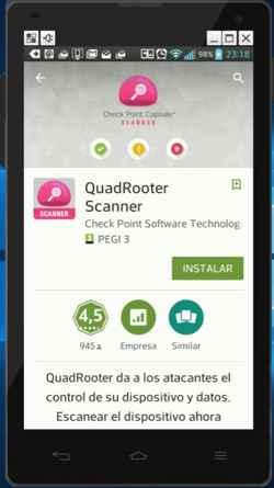 Quadrooter aplicación