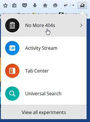 complemento de Firefox No More 404