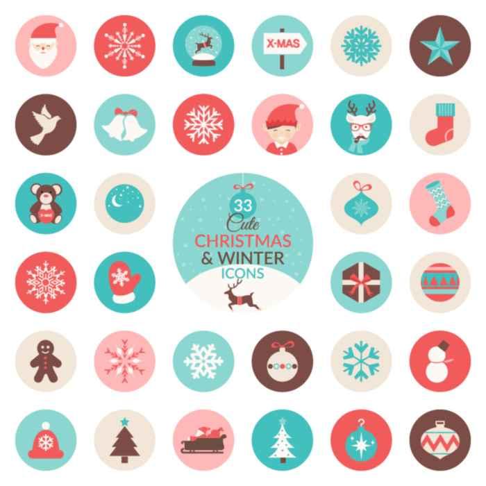 Iconos de Navidad e invierno gratis