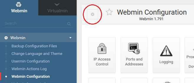 webmin config module
