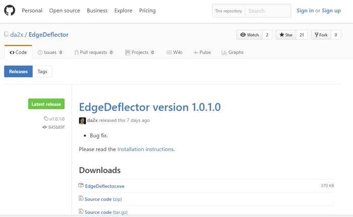EdgeDeflector descarga