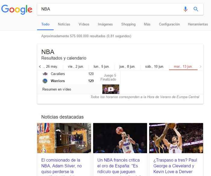 búsqueda NBA