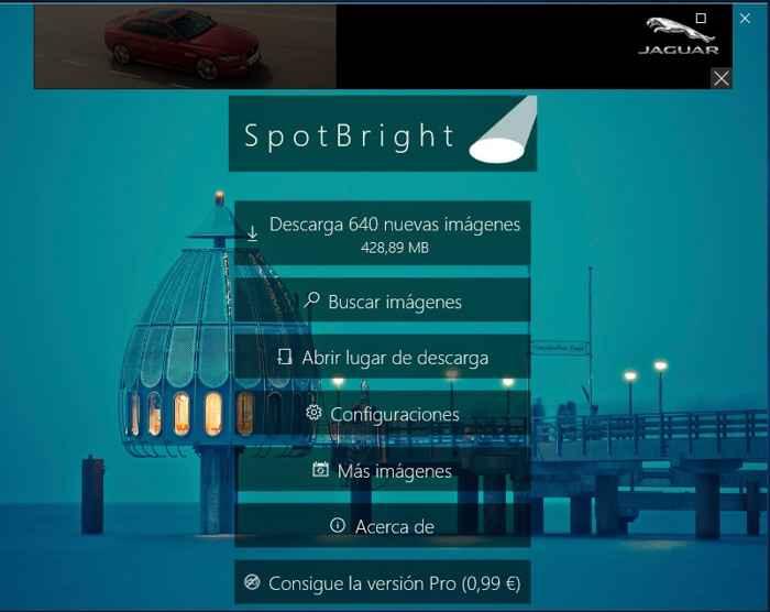 SpotBright, descargar imágenes