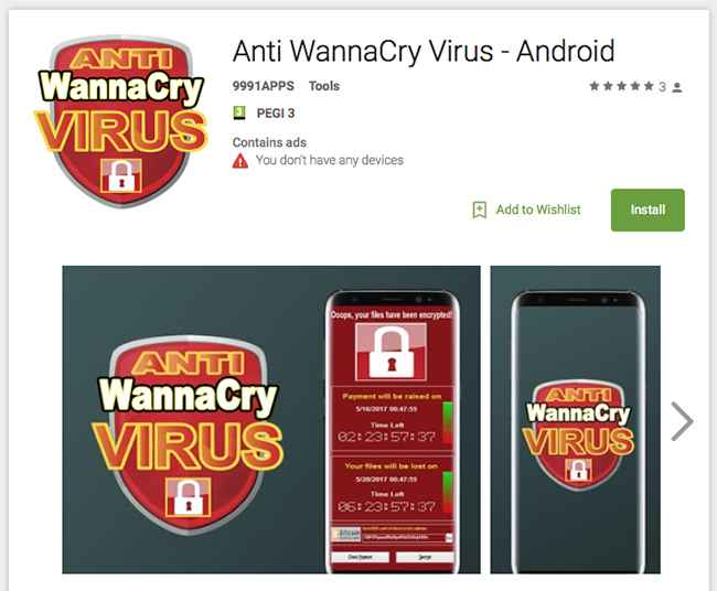 aplicaciones anti-WannaCry
