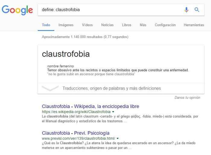 búsqueda definir palabra