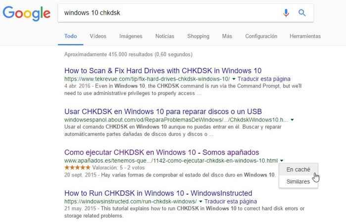 búsqueda en caché de Google