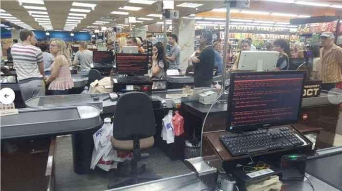 ransomware en un supermercado de Ucrania