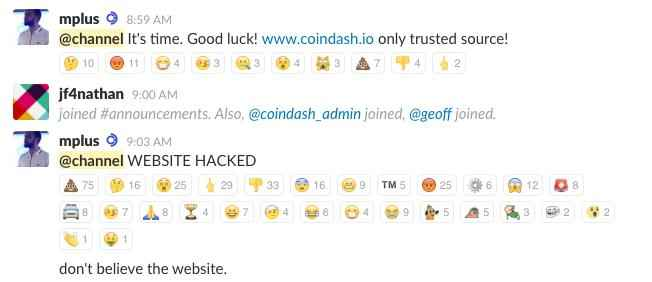 Coindash hack