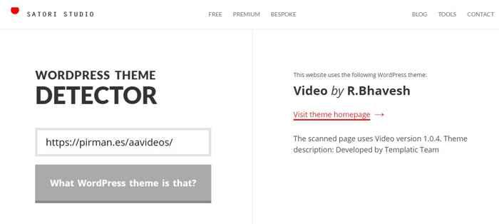 detector de tema de WordPress