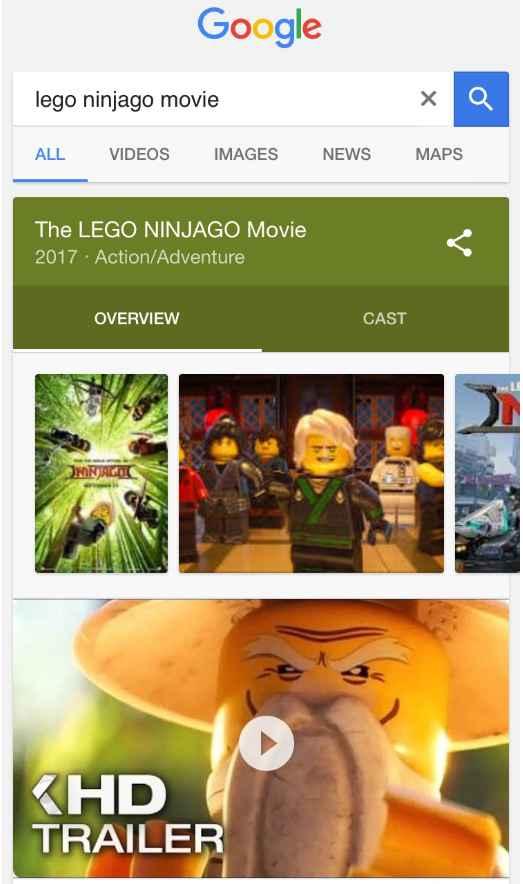 Google autoplay vídeo en resultados de búsqueda en móvil