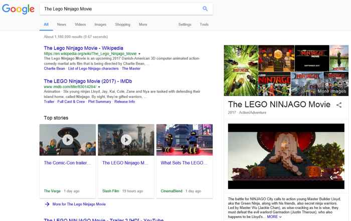Google autoplay vídeo en resultados de búsqueda